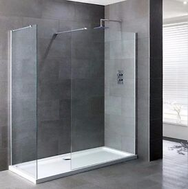 1400 x 900 x 40 Walk in Showner enclosure Set, New, free delivery in Bristol Area