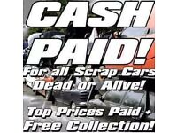 Scrap cars wanted min £170 paid