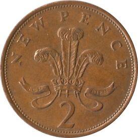 Collectible RARE 'New Pence' 2p Coins- 1971 edition