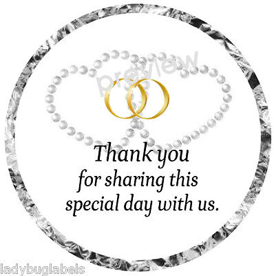 108 HERSHEY KISS GLOSSY STICKER LABELS -THANK YOU FOR SHARING OUR SPECIAL DAY #4](Thank You For Sharing Our Special Day)