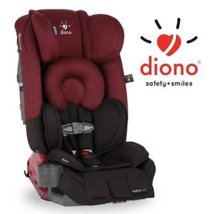NEW DIONO CONVERTIBLE CAR SEAT 16005 201706192 RADIAN RXT ALL IN ONE BLACK SCARLET