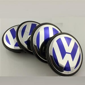 4 x 55mm Volkswagen VW Alloy Wheel Centre Hub Caps Golf Polo Bora Jetta Blue | eBay