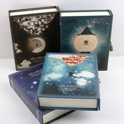 """Like a Dream"" 1pc Journal Notebook Lock Box Diary Cute Stationery Gift Package"