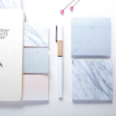 Memo Block Marble Note Pad Paper 75 Sheets School Office Study Cute Kawaii