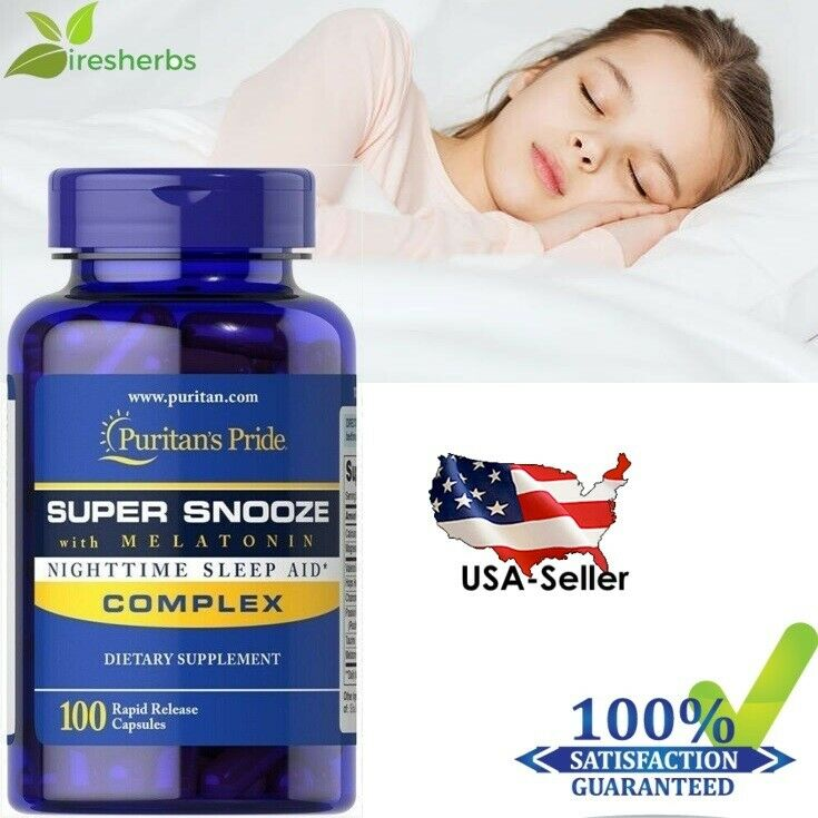 #1 BEST Sleeping Pills Stress Relief Timed Release Sleep Aid