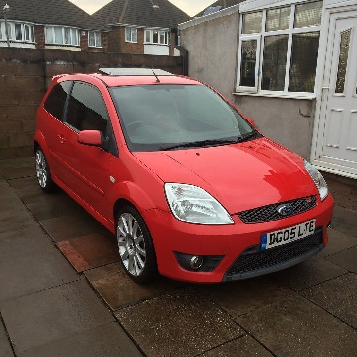 2005 ford fiesta st 150 red sunroof mk6 modified swap in. Black Bedroom Furniture Sets. Home Design Ideas