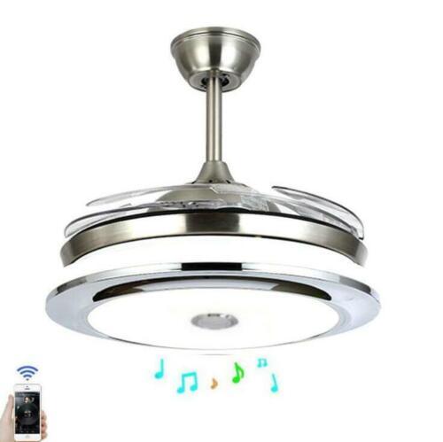 "36""/42""Modern Ceiling Fan Light w/LED Bluetooth Music Player"
