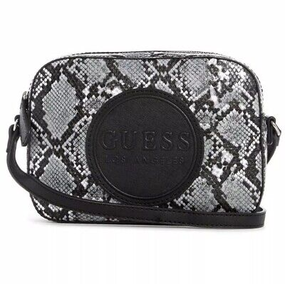 Guess Thornton Big Logo Crossbody Bag Black/Gray-Multi