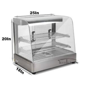 Open Box Food Display Warmer 110V Wooden Package Kitchen Equipment 122061