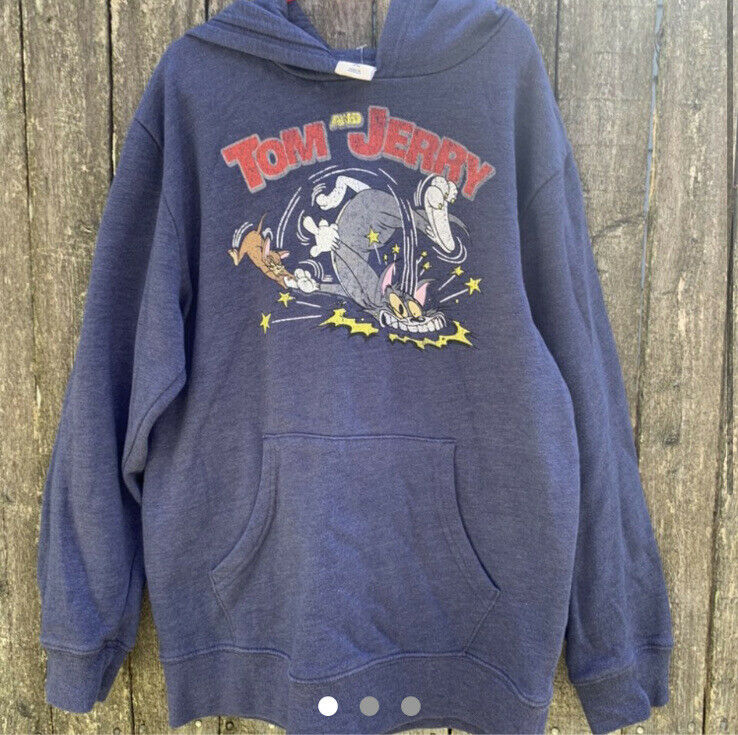 Tom & Jerry Pullover Hoodie Youth L 10/12