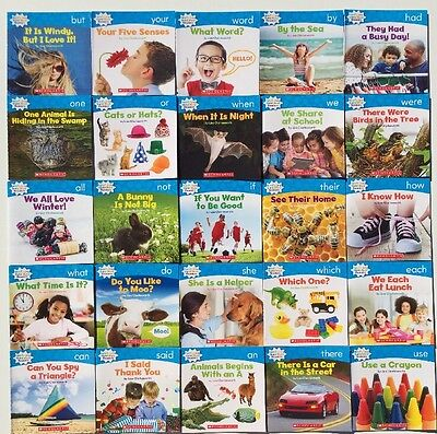 Nonfiction Sight Word Readers Guided Reading Level B Preschool Kindergarten Set