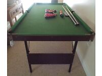 SNOOKER TABLE- Foldable