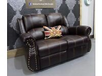 Immaculate Like New Recliner Reclining Brown 2 Seater Sofa - UK Delivery
