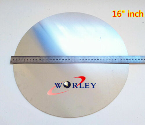 """16"""" inch DIA 405mm Aluminum Disc Circle Blank Plate Flat Sheet Round 2mm Thick"""