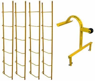 Acro Chicken Ladder Set - 4 6 Ladders 1 10 Hook - Roofing Equipment