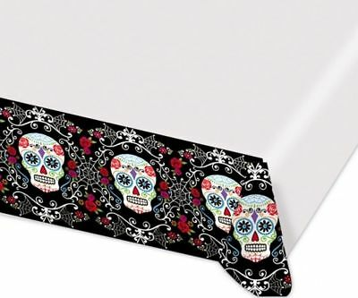DAY OF THE DEAD TABLE COVER HALLOWEEN PARTY TABLECLOTH DECORATION MEXICAN FIESTA