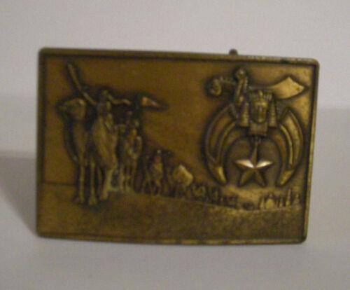 Vintage Bronze Harry Klitzner Masonic Belt Buckle 1978