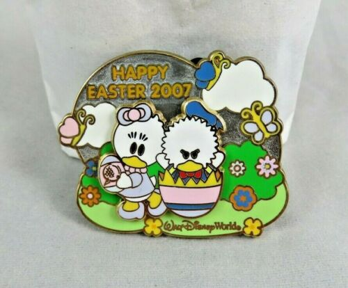 Disney WDW Pin - Easter Egg Hunt 2007 - Donald and Daisy Duck - Cute Characters