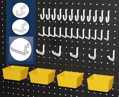 43 PC. Peg Hook Kit - Garage Wall Organizers - Tool Organizer & Craft Storage