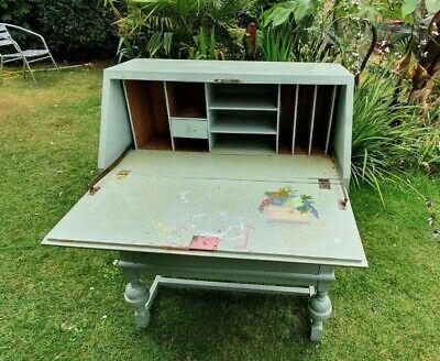 Secretary Desk or Bureau, Child's Desk, Antique Wooden Painted   COLLECTION ONLY