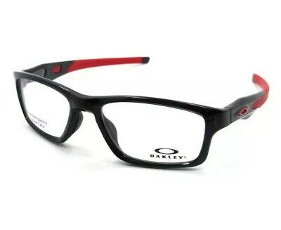 $200 Oakley Crosslink OX8090-0353 Polished Black Red 53-17-140 Eyeglasses Frames