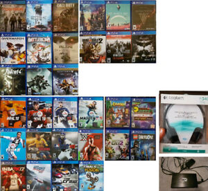 PS4 Games and Accessories (Various Prices)