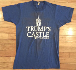 Vintage 80s TRUMP CASINO Employee Staff T-shirt  Signed Donald M