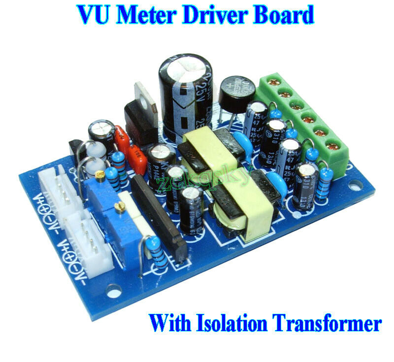 Details about DC 12V VU Meter Audio Power Amplifier Level Meter Driver  Board With Transformer