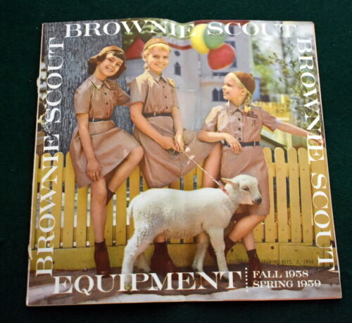 VINTAGE 1958 GIRL SCOUT - BROWNIE EQUIPMENT CATALOG - 24 PAGES