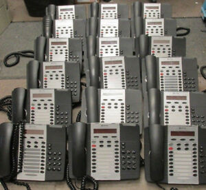 LOT OF 18 MITEL 5220 IP PHONE W/ HANDSET AND STAND with 1 Mitel