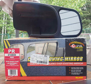 Slide-on towing mirrors