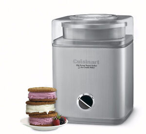 NEW-CUISINART ICE-30BC 2QT YOGURT SORBET MAKER