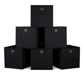Homfa Storage Box Set of 6 Storage Bins Basket for Blankets Toys Cloth