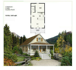 NS1838 Prefab Modular Steel Frame Cottage