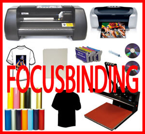 "15x15"" Heat Press,13"" Laser 500g Vinyl Cutter,Printer,Refills,PU"