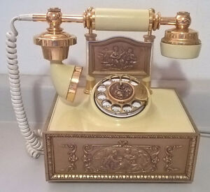 Vintage French Deco-Tel Rotary Desk Phone Telephone