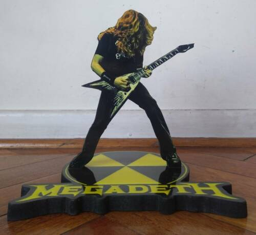 """DAVE MUSTAINE DISPLAY 8"""" STANDEE Figure Statue Cutout Megadeth Doll Toy Standup"""