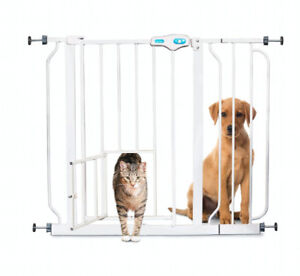Carlson Extra Wide Pet Gate, with small pet door Baby gate