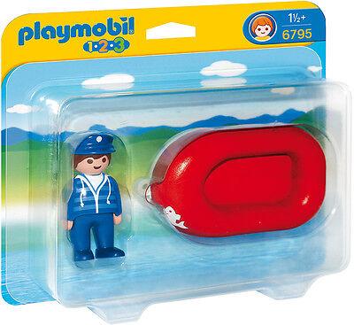 """PLAYMOBIL®  1-2-3    6795   """" Mann im Schlauchboot """", NEU & OVP"""