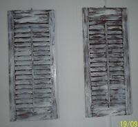 Vintage Wood Shutters - Shabby Chic - Plain