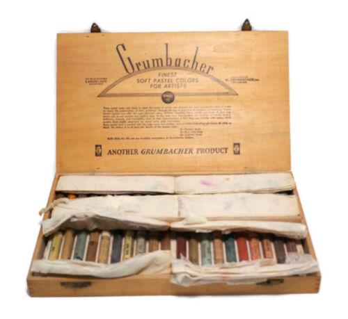 Grumbacher Set No.11,40 SOFT PASTELS In Original Box Art Supplies
