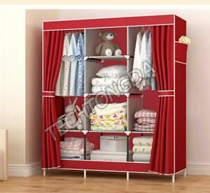 High Reinforced Cloth Wardrobe Closet Rack Organizer 251290