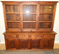 Large Rustic Hutch / Display Cabinet