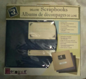 SELLING Set of 3 DELUXE 12 x 12 inch SCRAPBOOK Albums in box