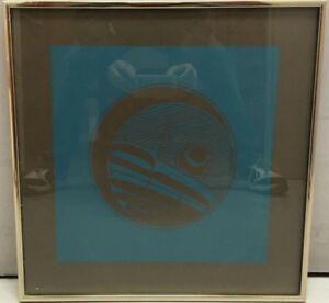 "Robert Charles Davidson ""Moon"" 1976 Serigraph First Nations"