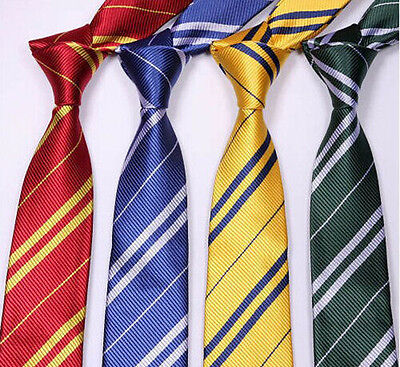 Harry Potter Tie Gryffindor Slytherin Ravenclaw Hufflepuff Costume Accessory Eg