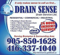 Trusted Licensed Plumber Call Drain Sense today! (416)337-1040