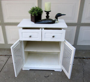 PIER 1 PLANTATION STYLE CABINET/TABLE -SOLID WOOD -