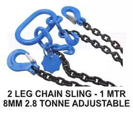 2 LEG CHAIN SLING - 1 MTR 2.8 TON