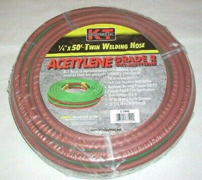 Kt Ind 3-7490 14 X 50 Grade R Twin Welding Hose W B Fittings Oxygen Acetylene